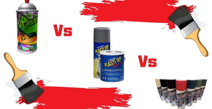 Spray Paint vs Plasti Dip vs Powder Coat