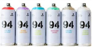 MTN 94 Spectral Spray Paint for graffiti  – 6 Pack