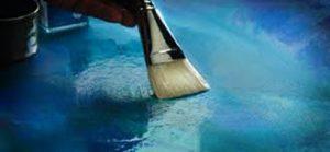 using a spray on Acrylic Pain